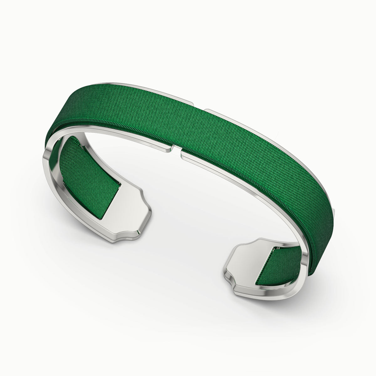 Bare Silk Cuff - Emerald Green