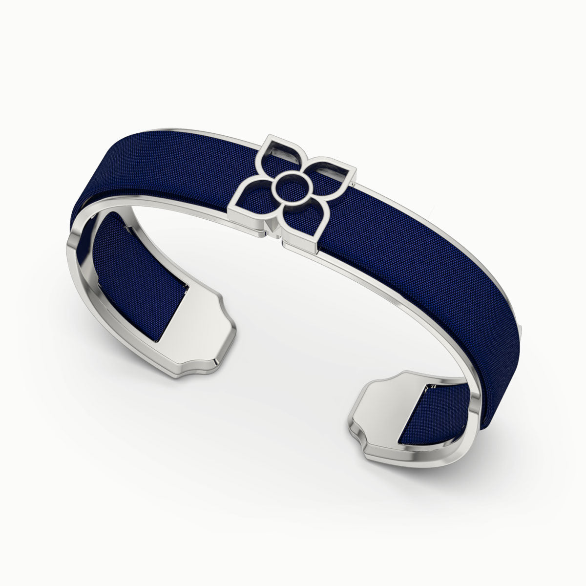 Lotus Silk Cuff - Midnight Blue