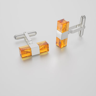 Hoi An Cufflinks - Mandarin Orange