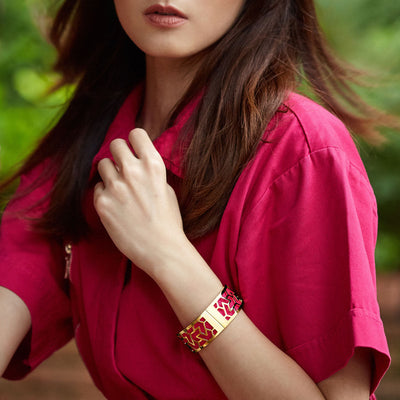 Iskandar Bangle Mangosteen Red