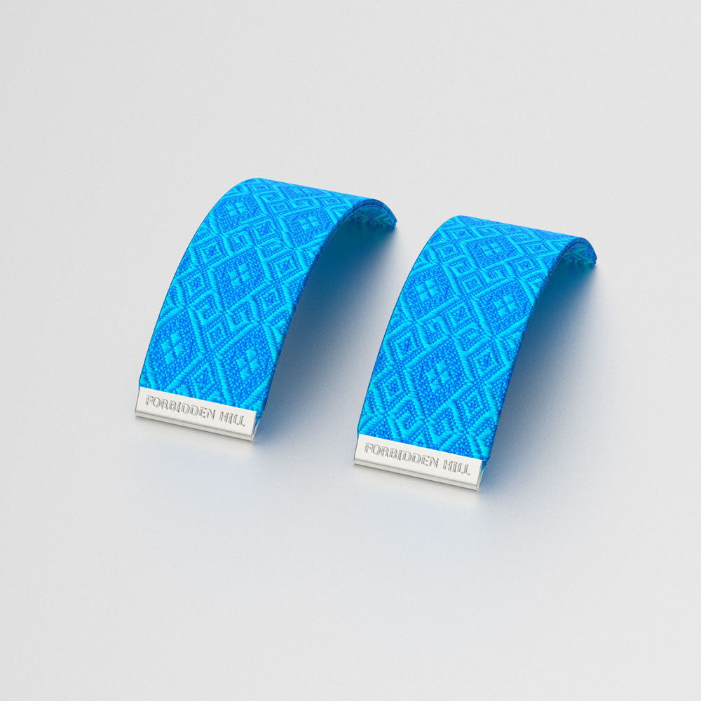 Silk Slides for 24mm Bangle - Peranakan Blue