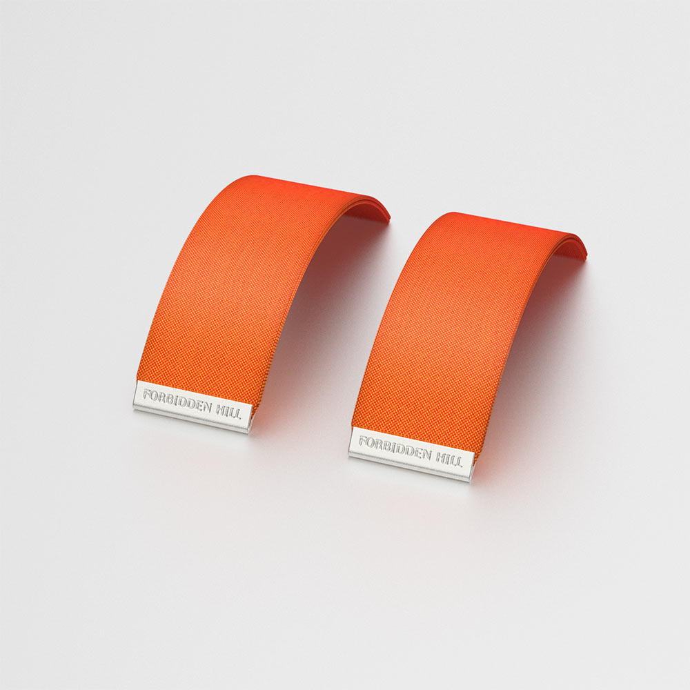 Silk Slides for 24mm Bangle - Lava Orange