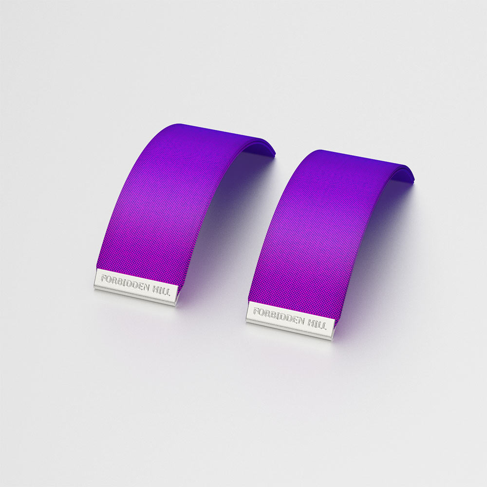 Silk Slides for 24mm Bangle - Orchid Purple