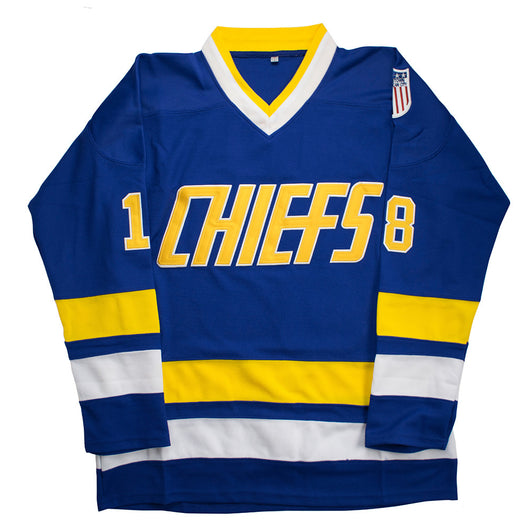 e54af665a MOLPE Charlestown Chiefs Hanson Brothers Slap Shot Hockey Jersey