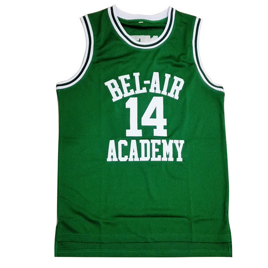dfbb16707e5 MOLPE Bel Air Acacdemy Will Smith  14 Fresh Prince Basketball Jersey
