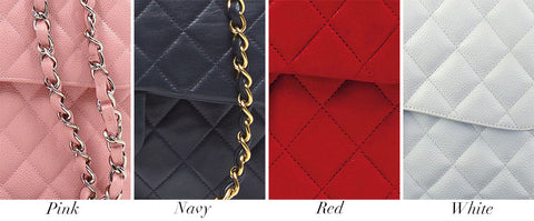 569b310d0ba3 THE ULTIMATE CHANEL CLASSIC FLAP GUIDE. Common Colors