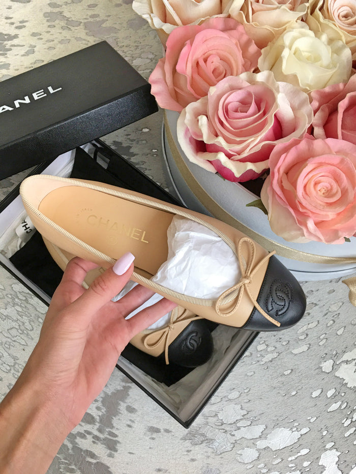 Chanel Classic Lamb Leather Ballet Flats