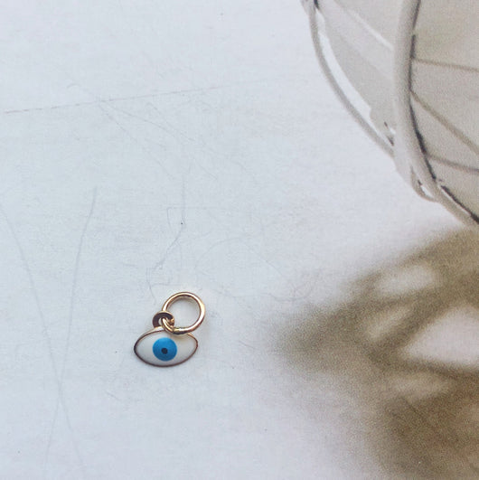 Evil Eye Charms | 14K Solid Gold
