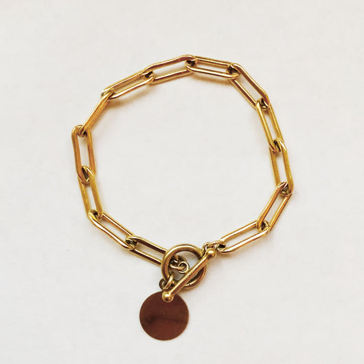 14K Gold Thick Chain Link Bracelet