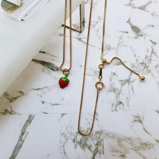 Strawberry Necklace | 14k solid gold