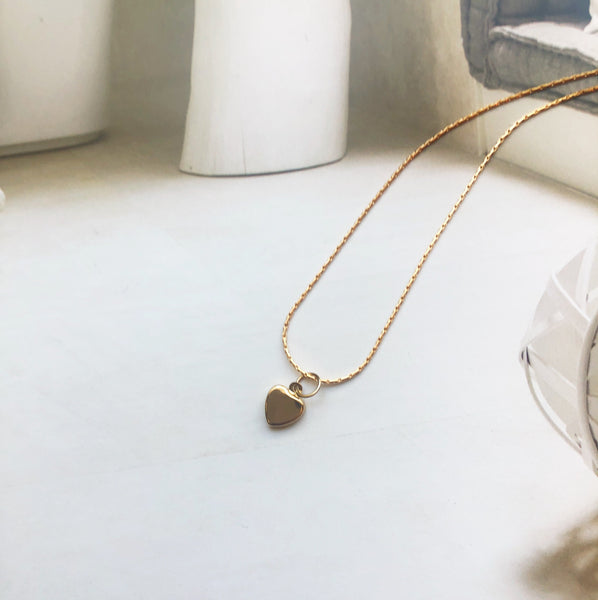 Heart of Hearts Necklace || Solid 14k Gold