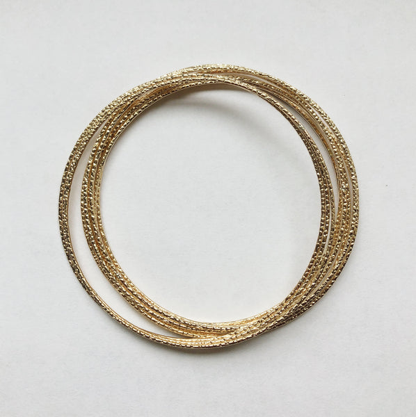 14K Gold Bangles (refer to size description)