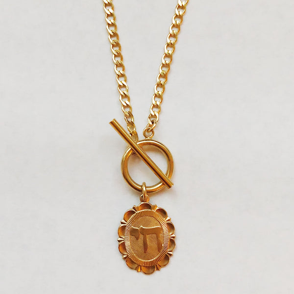 14k Gold Micro Chain Necklace with Pendant || Various Styles