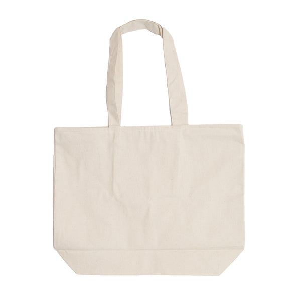 Large Canvas Carryall Bag-Natural with Black Logo