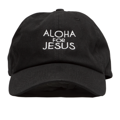 Aloha for Jesus Dad Hat Black