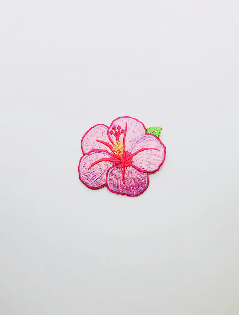 Pink hibiscus Patch