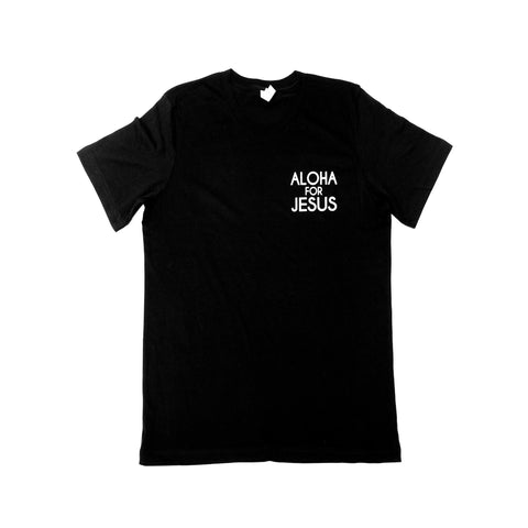 Jersey Short Sleeve Chest Logo T-Shirt-Black with White Logo