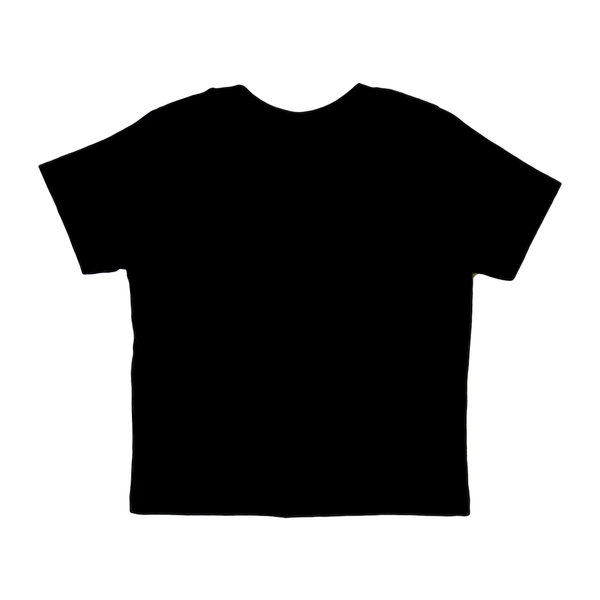 Short Sleeve Black T-Shirt with White Logo