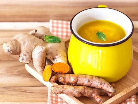 Our tummy is a second brain.....?? Bone broth turbo charged with ginger, turmeric, lemon, & pepper