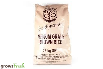 Bio-Dynamic Organic - Brown Rice - Bulk Bag - 25kg - Australian