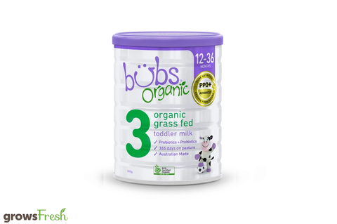 Bubs Organic - Grass Fed Cow Milk Toddler Formula Stage 3 - Australian