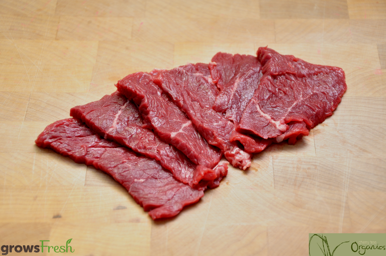 Cherry Tree - Organic Beef - Thin Slices (similar to Shabu Shabu) - Grass Fed - Australian