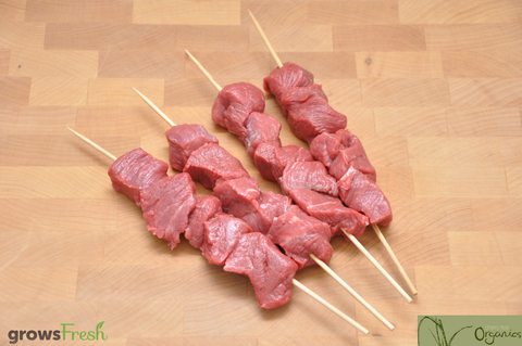 Cherry Tree - Organic Beef - Fresh Rump Kebabs - Grass Fed - Australian