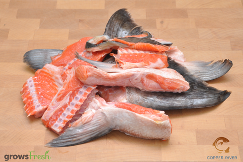 Copper River Wild Alaska - King Salmon - Bones - Frozen