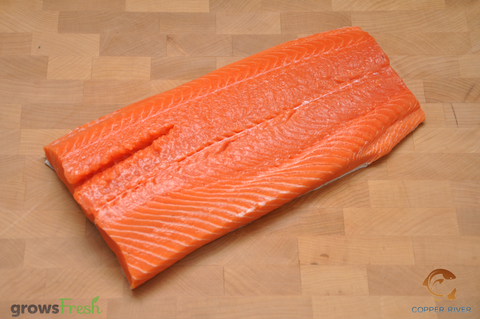 Copper River - Wild Alaska - King Salmon - Whole Sides - Frozen