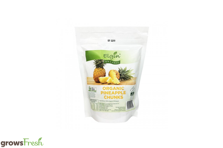 Elgin Organic Pineapple Chunks - Fruit - Frozen - 500g