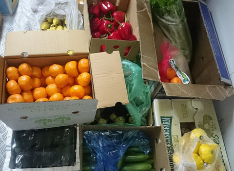 Weekly Family Organic Fruit & Vegetable Box - 12 Items -  Approx 7kg