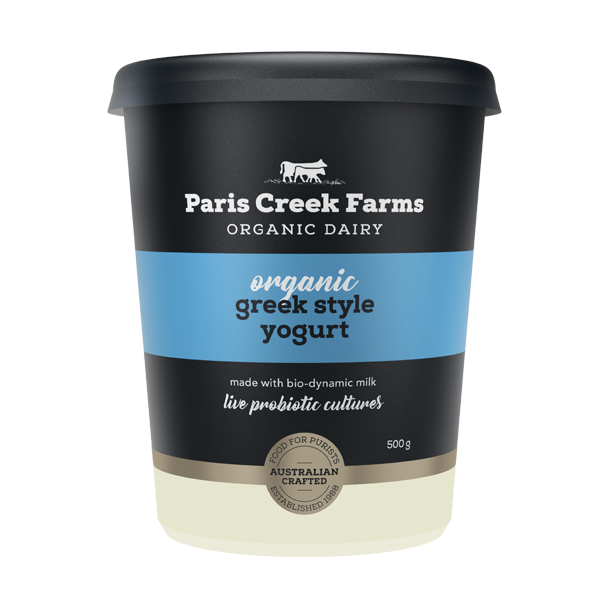 Paris Creek Farms - Organic Yoghurt - Natural Greek Style - Australian