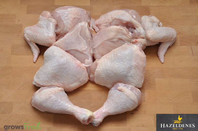 Hazeldene's Free Range Chicken - Fresh 10 Pieces Whole Chicken - Australian