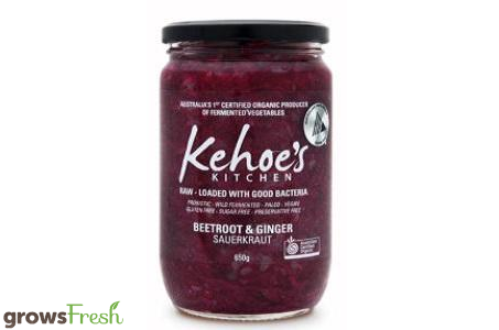 Kehoe's Kitchen - Organic Sauerkraut - Beetroot & Ginger - 270g