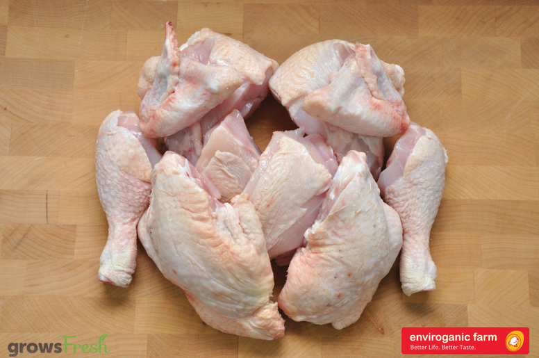enviroganic farms - Organic Free Range Chicken - Whole Chicken 10 Pieces - Frozen - Australian