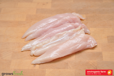 enviroganic farms - Organic Free Range Chicken - Tenderloins - Frozen - Australian