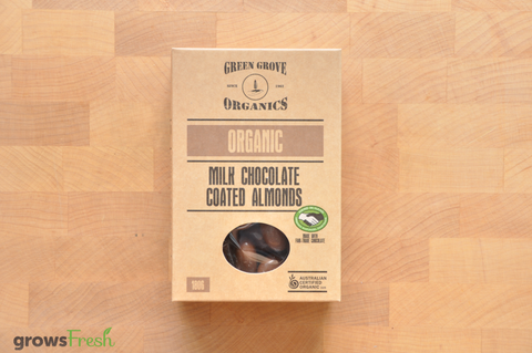 Organic Milk Chocolate Almonds - Australian