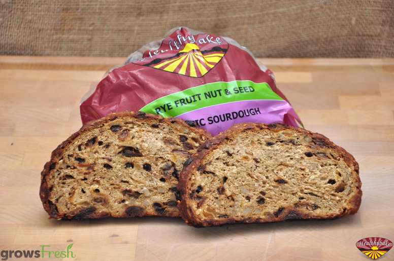 Healthybake - Rye Fruit Nut & Seed Loaf - Organic Sourdough - Australian