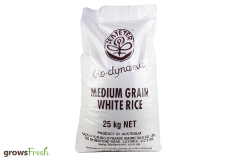 Bio-Dynamic Organic - White Rice - Bulk Bag - 25kg - Australian
