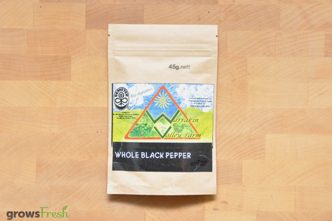 Organic Whole Black Pepper Corns - Australian