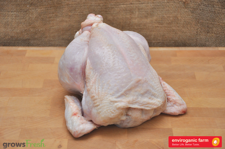 enviroganic farms - Organic Free Range Chicken - Whole Chicken - Frozen - Australian