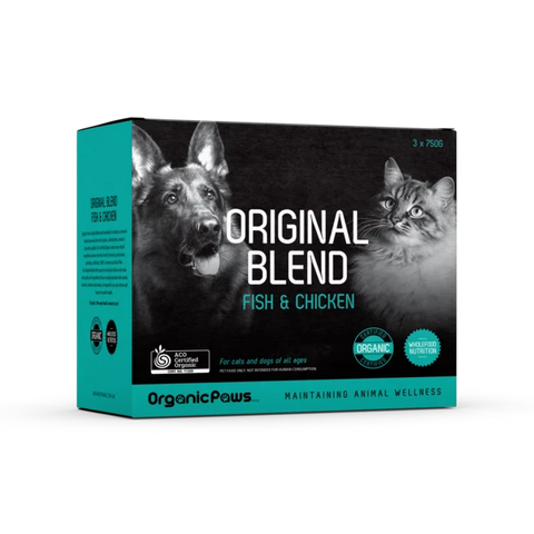 Organic Paws - Original Blend - Fish & Chicken - Frozen Australian