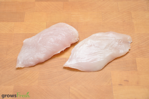 growsFresh - Chicken - Organic Free Range - Breast - Kid Steaks