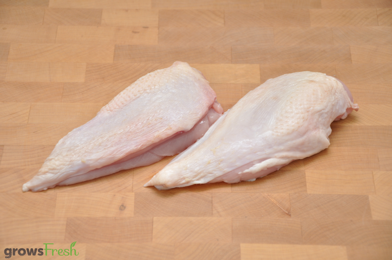 growsFresh - Chicken - Organic Free Range - Breast - Skin On - Frozen