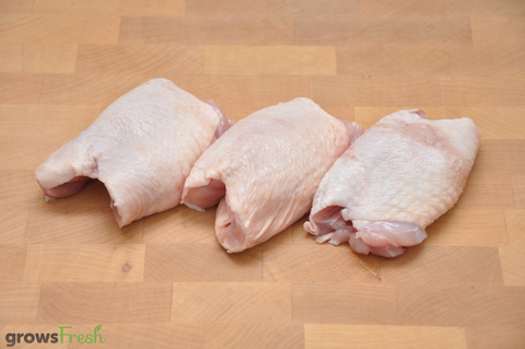 growsFresh - Chicken - Organic Free Range - Thigh - Skin On - Fresh