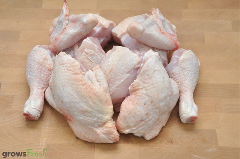 growsFresh - Chicken - Organic Free Range - Whole Chicken 10 Pieces - Fresh