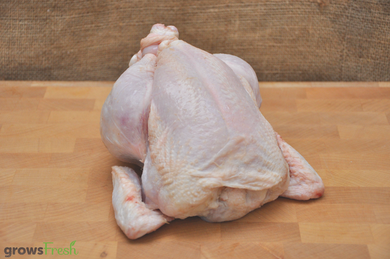growsFresh - Chicken - Organic Free Range - Whole Chicken - Frozen
