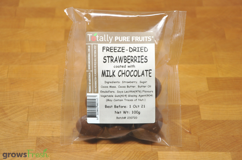 Milk Chocolate Covered Freeze Dried Strawberries - Australian
