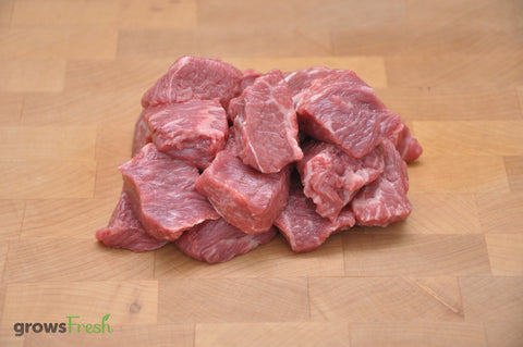 growsFresh - Beef - Diced Rump - Fresh - Grass Fed - Australian