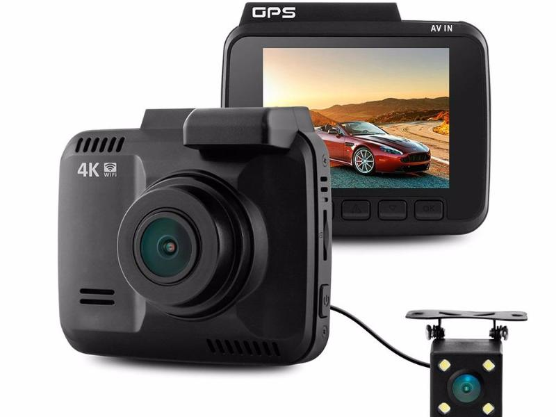 Dash Cam GS63D Dual Cameras WiFi FHD 1080P Front VGA Rear Novatek Camera Built in GPS